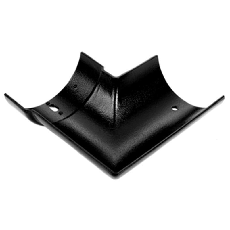 100mm Cast Aluminium Half Round External 90dg Angle