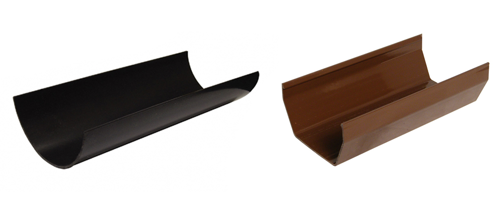 Floplast Square Line and Half Round Gutter